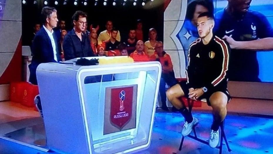 Após Eliminação Craque da Seleção Belga Da Entrevista em Holograma.