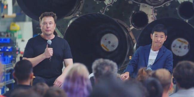 Elon Musk e Maezawa enviarão 8 artista para Lua em 2023