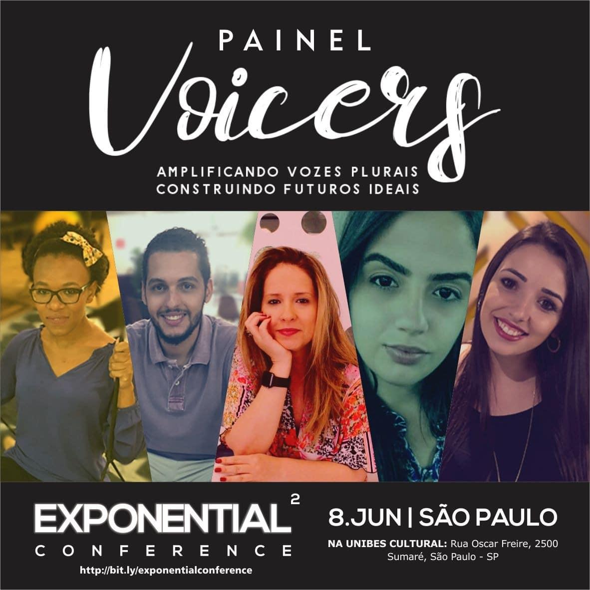 Painel Voicers na Segunda Edição do Exponential Conference