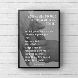 Natasha Bontempi cria modelos de cartazes para evitar exposição de idosos a coronavírus