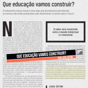 Que educação vamos construir? por Ligia Zotini