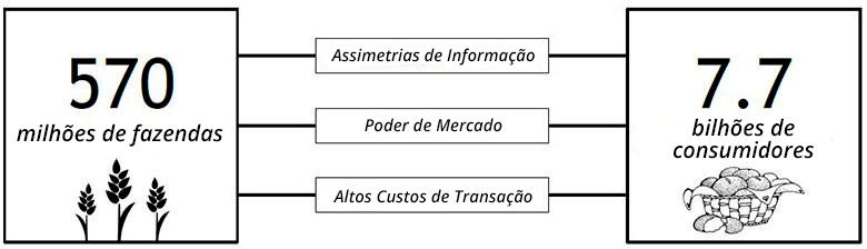 Assimetrias de informação e custos de transação atormentam o sistema alimentar