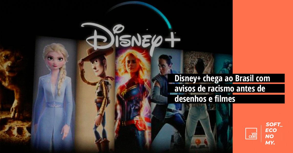 Disney+ chega ao Brasil com avisos de racismo antes de desenhos